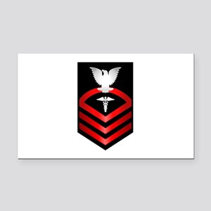 Navy Chief Hospital Corpsman Rectangle Car Magnet