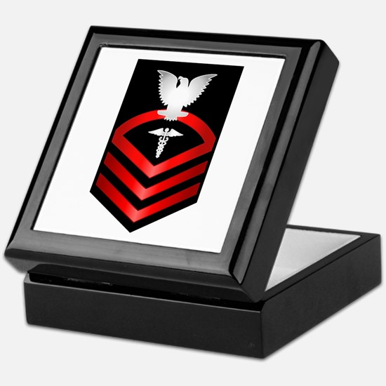 Navy Chief Hospital Corpsman Keepsake Box
