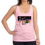 XmasSigns/2 Border Collies Racerback Tank Top
