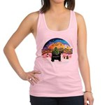 XMusic2-Puff Crested (tri) Racerback Tank Top