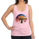 XMusic2-Two Collies Racerback Tank Top