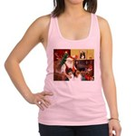 Santa's Collie pair Racerback Tank Top