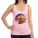XMusic2-Two brown Dachshunds Racerback Tank Top