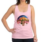 XMusic2-Wire H. Dachshund Racerback Tank Top