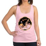Night Flight/German Shepherd Racerback Tank Top