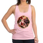 Santa's German Shepherd Racerback Tank Top