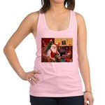 Santa's Greyhound Racerback Tank Top