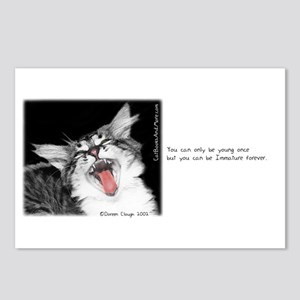 Wild Cat-And-Quote Postcards (Package of 8)