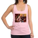 Santa / 2 Shelties (dl) Racerback Tank Top