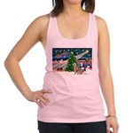 Xmas Magic & S Husky Racerback Tank Top