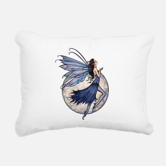 Midnight Blue Fairy Fant Rectangular Canvas Pillow