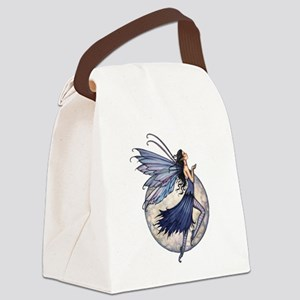 Midnight Blue Fairy Fantasy Art Canvas Lunch Bag