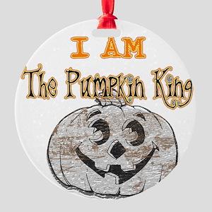 pumpkinking Round Ornament