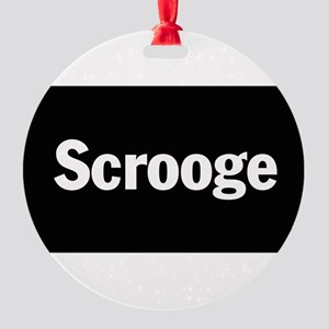 3-scrooge1 Round Ornament
