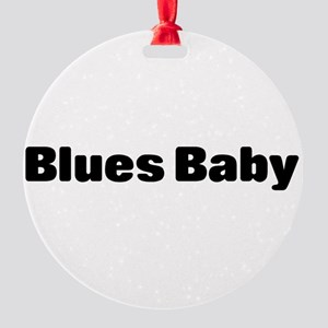 blues baby Round Ornament