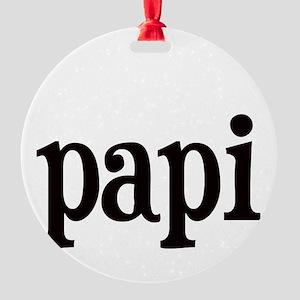 papi Round Ornament