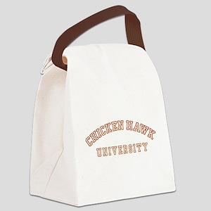 chickenhawk-u-all Canvas Lunch Bag