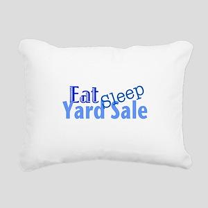 Eat Sleep Yard Sale Rectangular Canvas Pillow