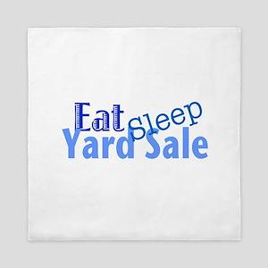 Eat Sleep Yard Sale Queen Duvet