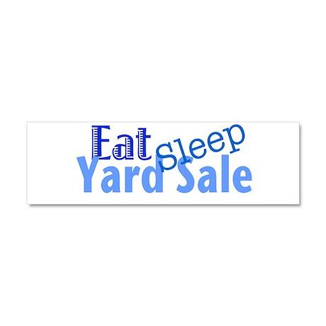 Eat Sleep Yard Sale Car Magnet 10 x 3