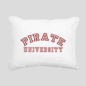 Pirate University Rectangular Canvas Pillow