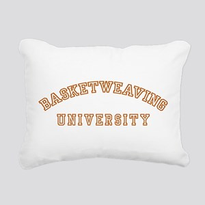 Basketweaving University Rectangular Canvas Pillow