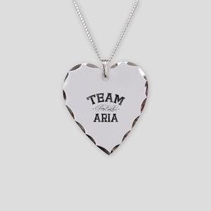 Team Aria - Pretty Little Liars Necklace Heart Cha