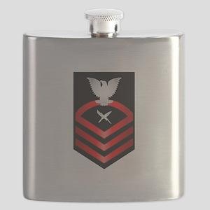 Navy Chief Cryptologic Technician Flask