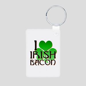 I Love Irish Bacon Aluminum Photo Keychain