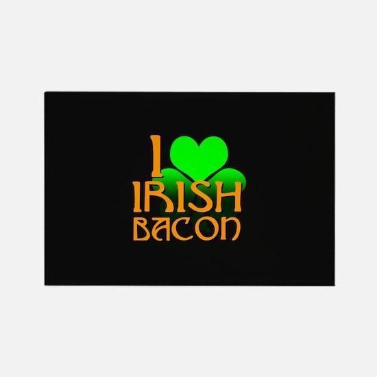 I Love Irish Bacon Rectangle Magnet
