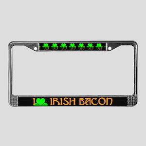 I Love Irish Bacon License Plate Frame