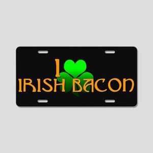 I Love Irish Bacon Aluminum License Plate