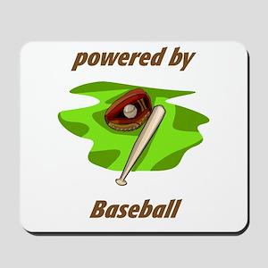 Powered By Baseball Mousepad