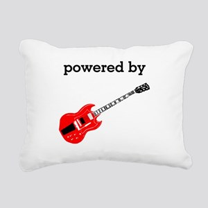 Powered By Electric Guitar Rectangular Canvas Pill