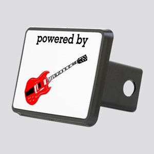 Powered By Electric Guitar Rectangular Hitch Cover
