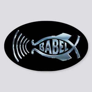 Babel Fish Oval Sticker