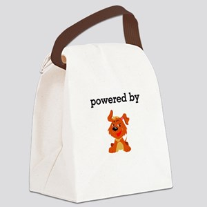 Powered By Dogs Canvas Lunch Bag