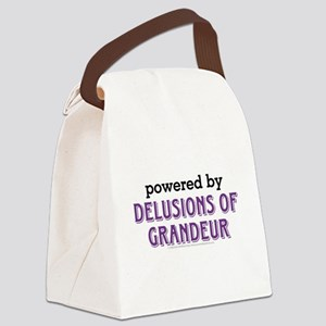 Powered By Delusions of Grandeur Canvas Lunch Bag