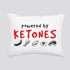 Powered By Ketones Rectangular Canvas Pillow