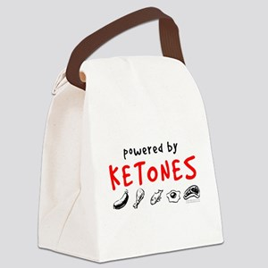Powered By Ketones Canvas Lunch Bag