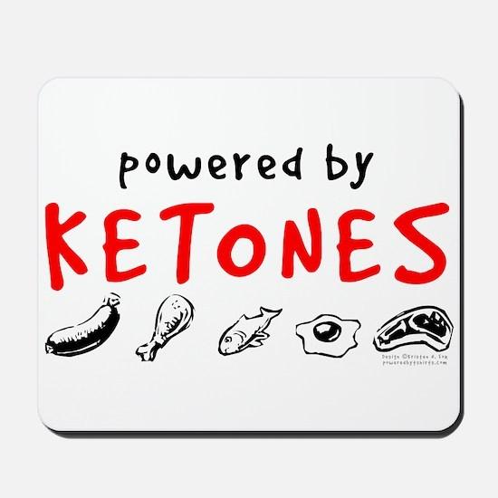 Powered By Ketones Mousepad