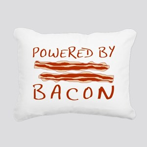 Powered By Bacon Rectangular Canvas Pillow