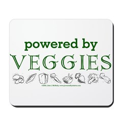 Powered By Veggies Mousepad