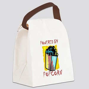 Powered By Popcorn Canvas Lunch Bag
