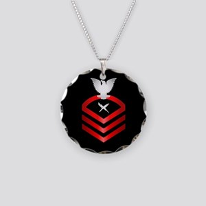 Navy Chief Cryptologic Technician Necklace Circle