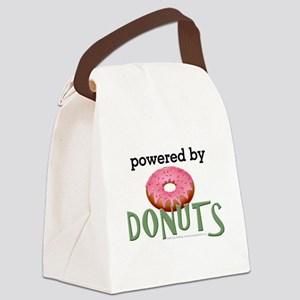 Powered By Donuts Canvas Lunch Bag
