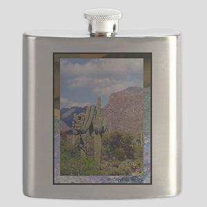 Desert Scene Flask