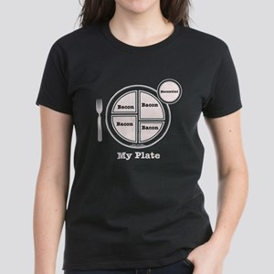 Bacon My Plate Women's Dark T-Shirt