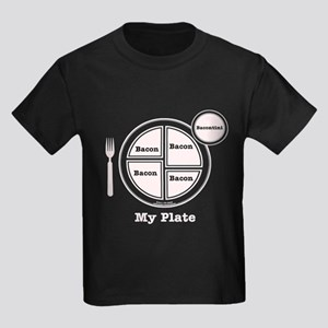Bacon My Plate Kids Dark T-Shirt