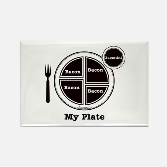 Bacon My Plate Rectangle Magnet